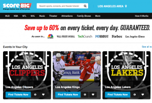 ScoreBig.com homepage