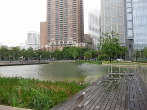 Discovery Green in downtown Houston