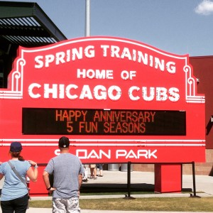 Sloan Park, the Cubs' spring training home