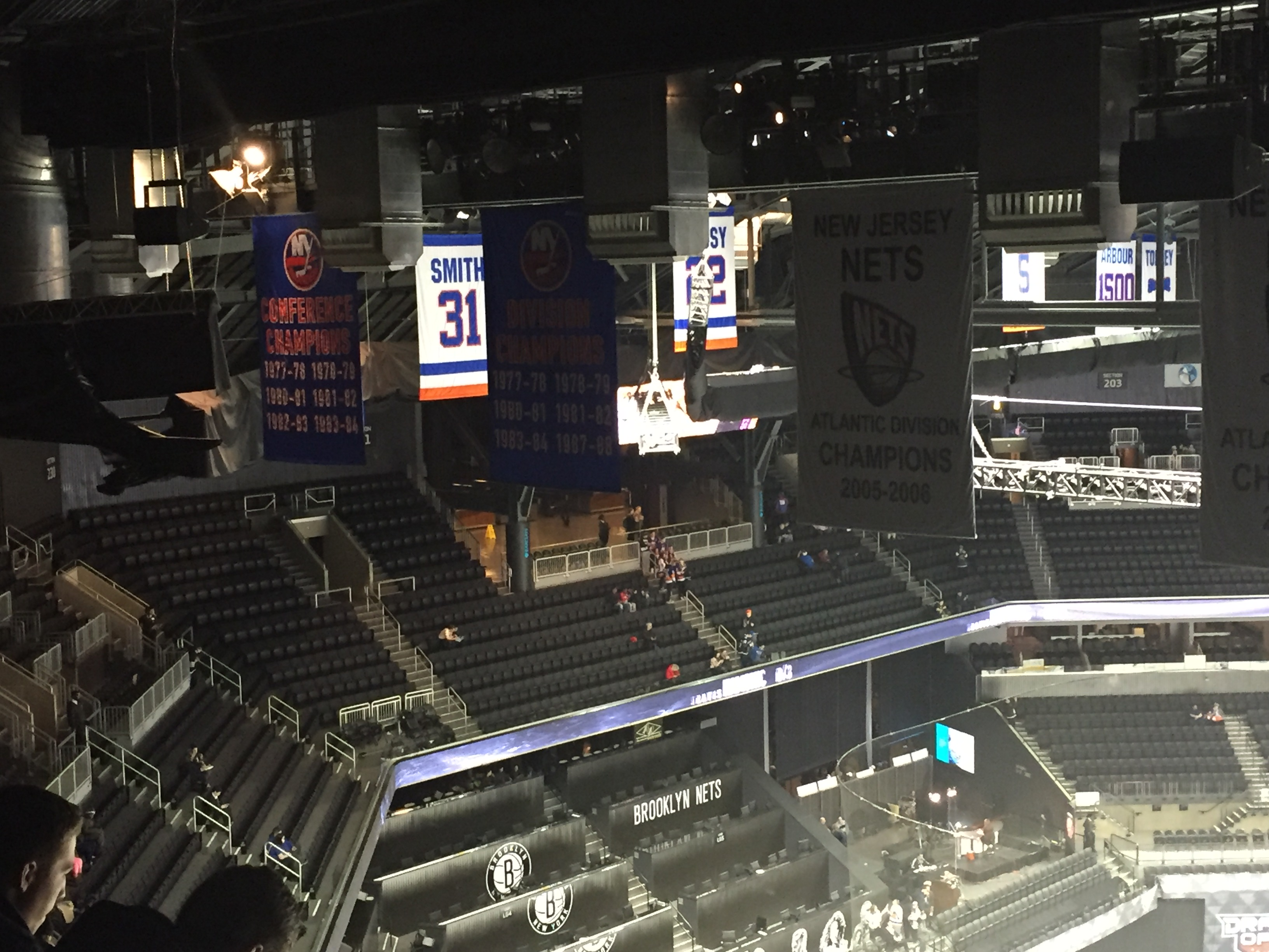 Barclays Center end