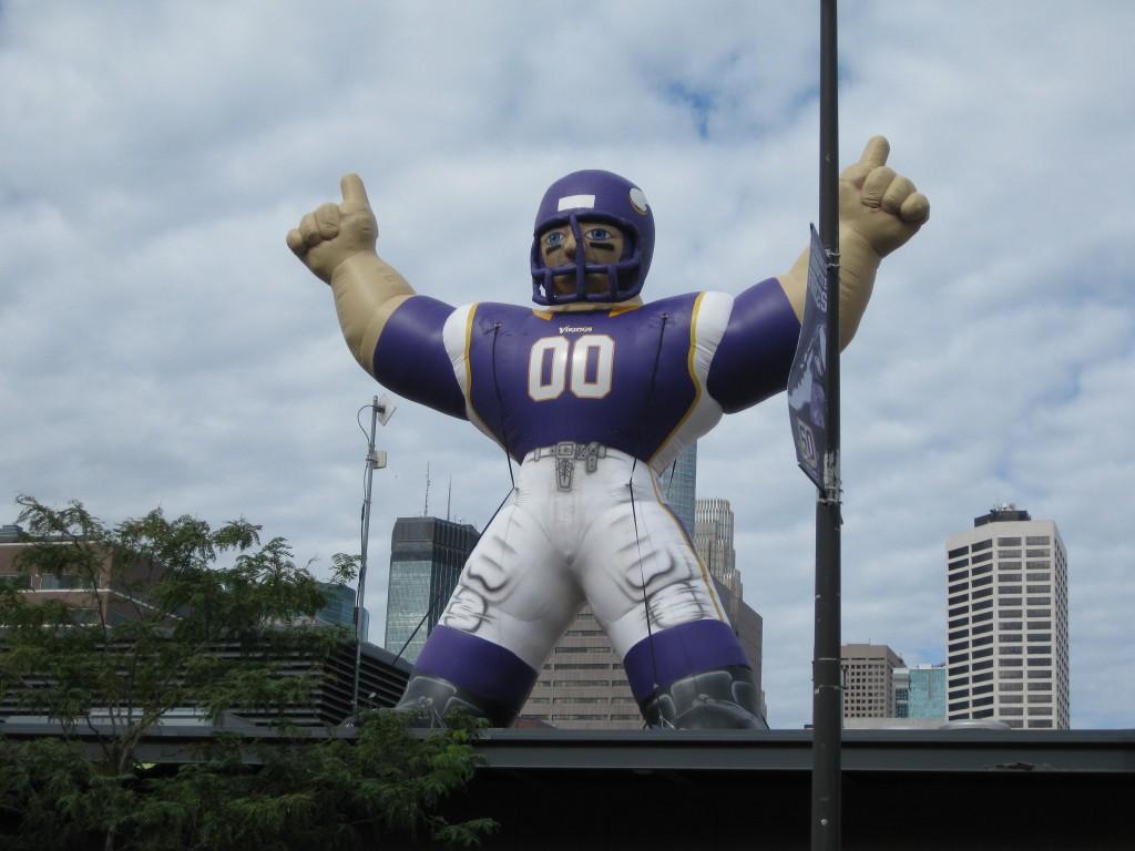 Metrodome Minnesota Vikings inflatable player