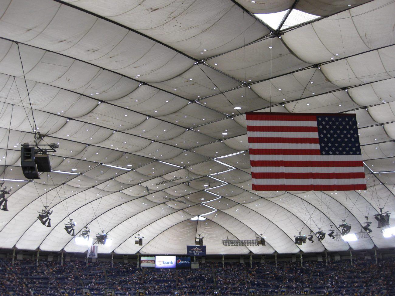 Metrodome roof