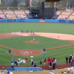 Dodger Stadium home plate view