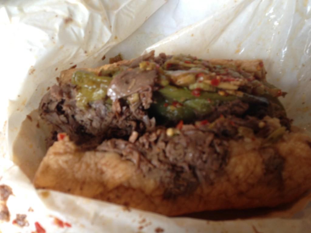 Italian beef sandwich Al's Beef Chicago sports teams travel guide