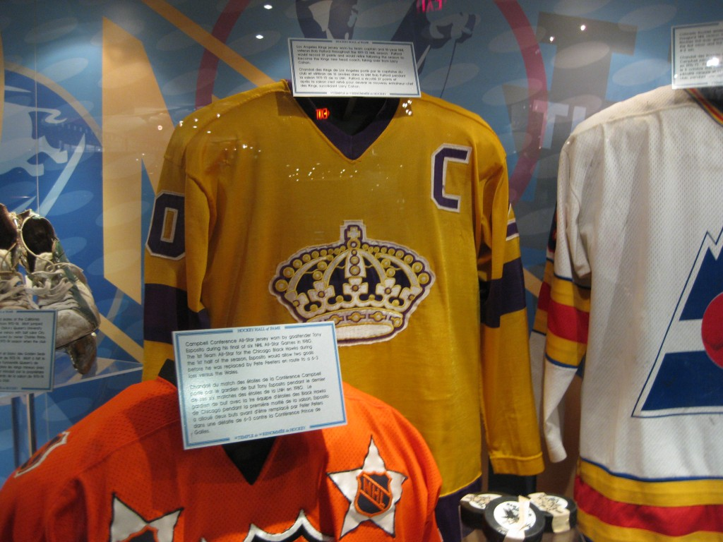 Jersey display at Hockey Hall of Fame