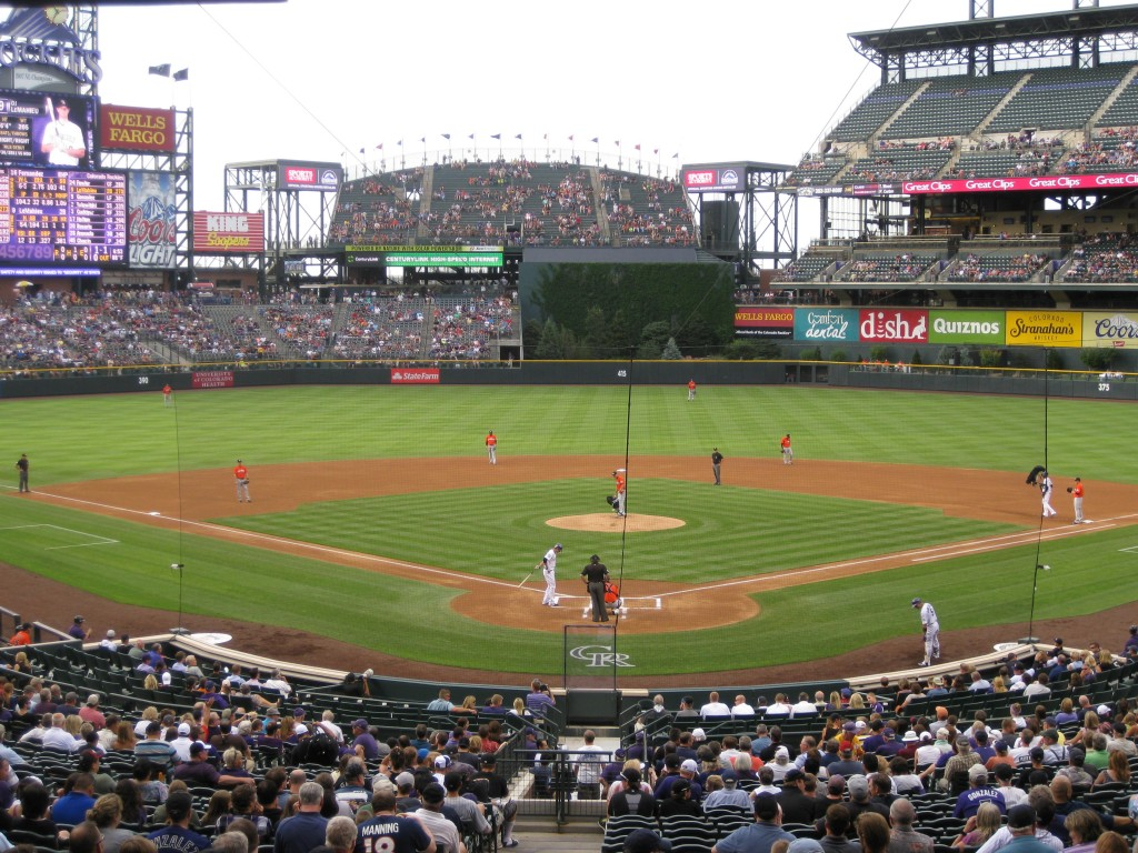 Coors Field diamond where to sit at a ballpark