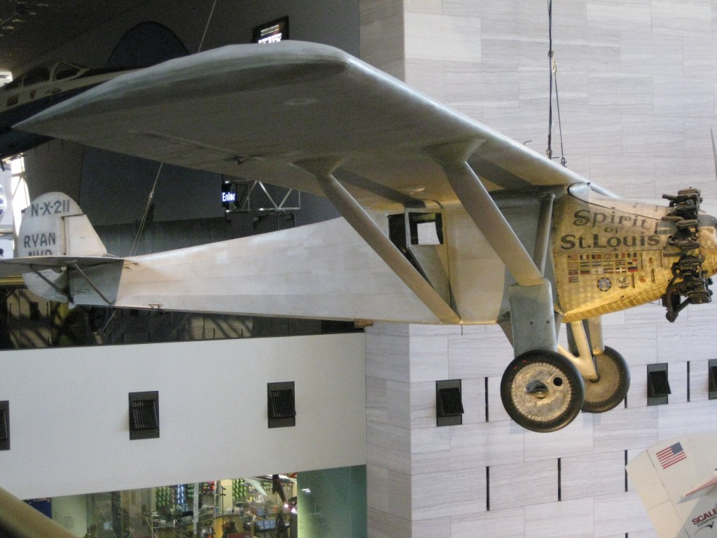 Spirit of St. Louis at the National Air and Space Museum Washington sports travel