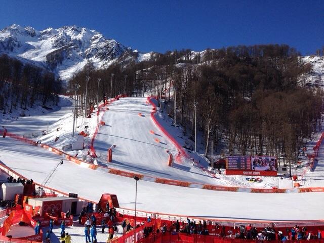 2014 Winter Olympics Sochi Alpine skiing course