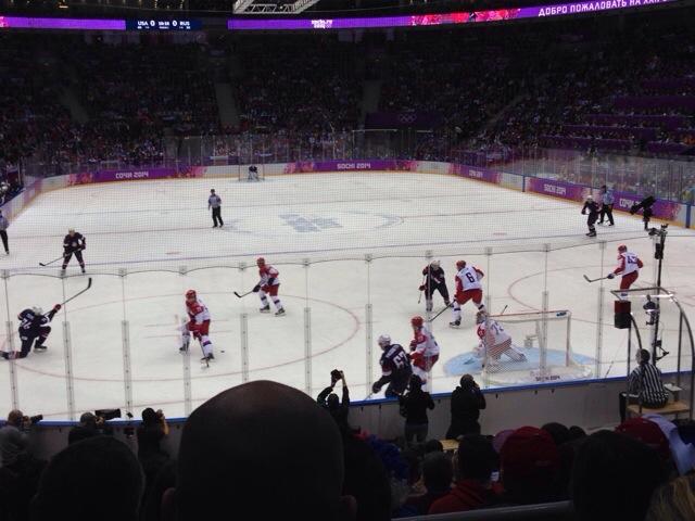 2014 Winter Olympics Sochi USA vs Russia hockey