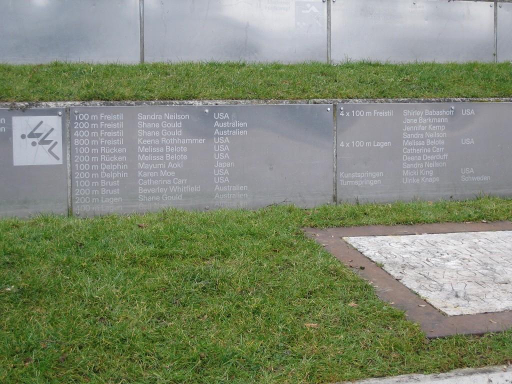 Munich Olympic Stadium plaque