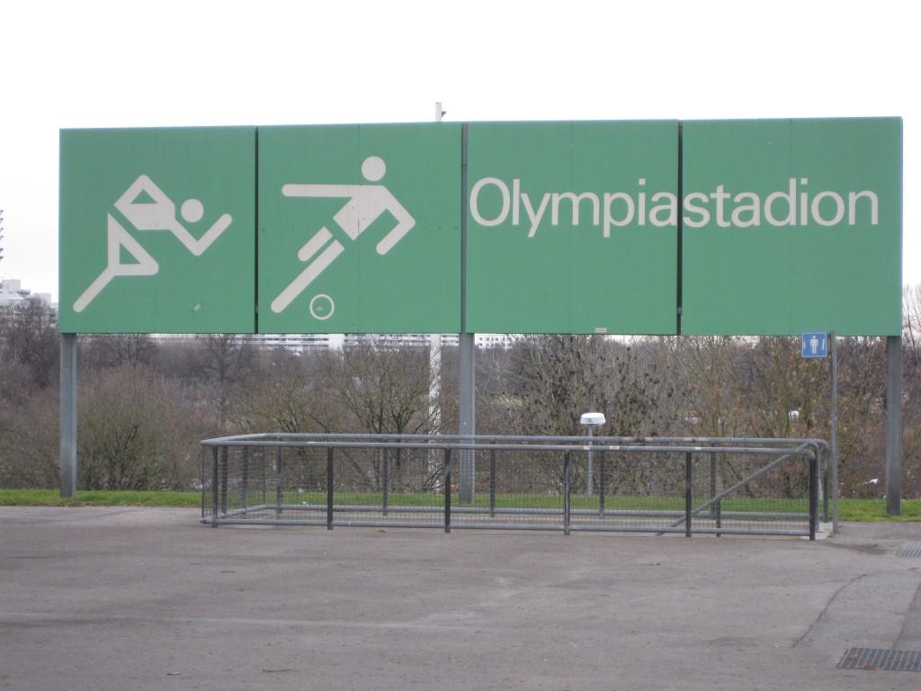 Munich Olympic Stadium signage