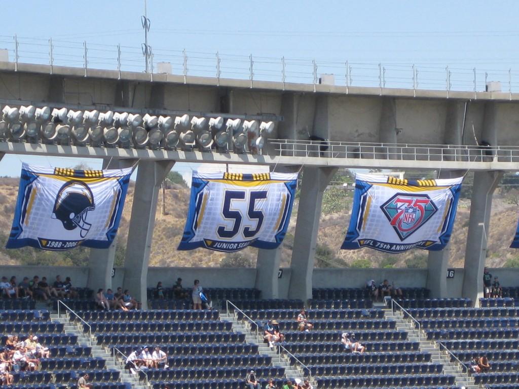 Qualcomm Stadium banners