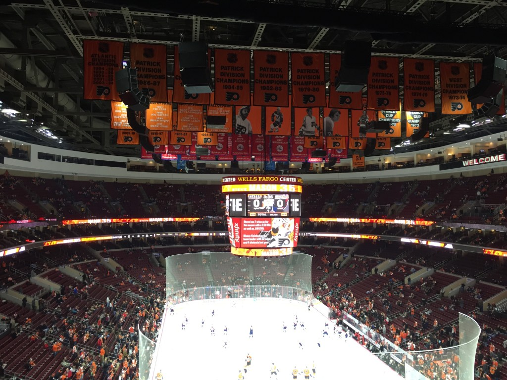 Wells Fargo Center banners