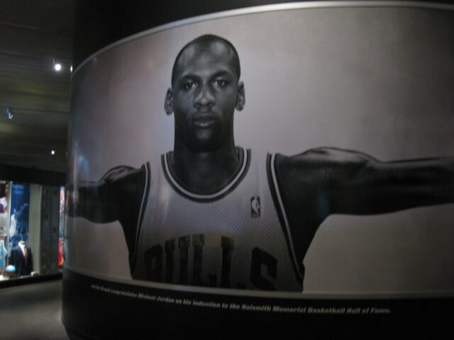 Basketball Hall of Fame Michael Jordan mural
