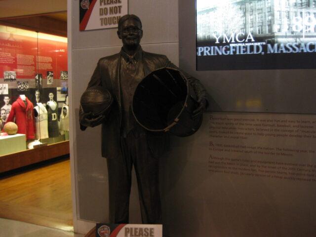 Basketball Hall of Fame James Naismith statue