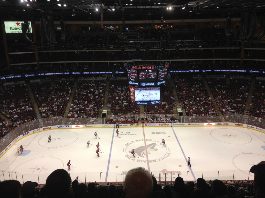 Gila River Arena Arizona Coyotes events parking seating food