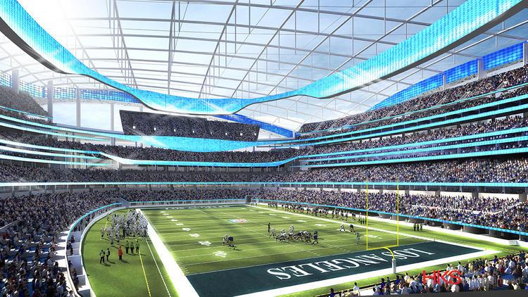 Inglewood stadium rendering (HKS via Los Angeles Times)