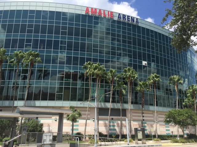 Amalie Arena Tampa Bay Lightning events tickets parking hotels seating food