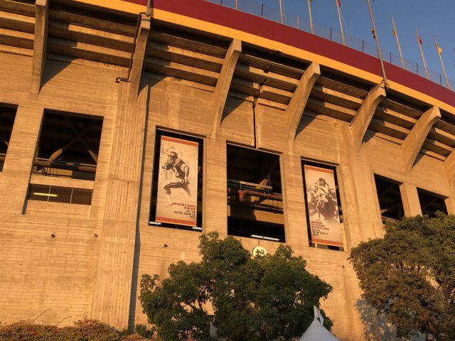 LA Memorial Coliseum exterior renovation seating