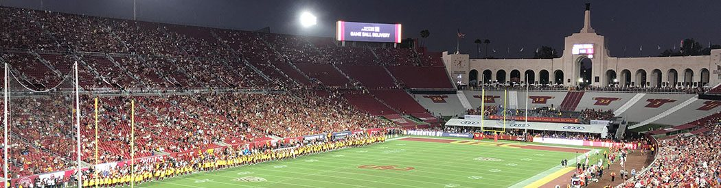Los Angeles Memorial Coliseum renovation seating parking food LA