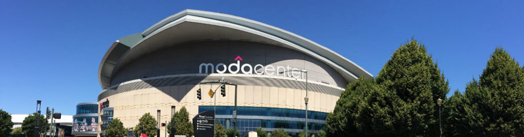 Moda Center Portland Trail Blazers events arena seating parking