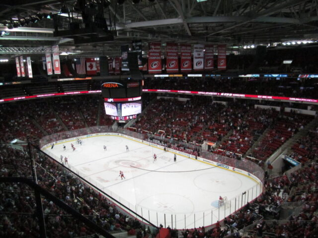 PNC Arena Carolina Hurricanes NC State Wolfpack events tickets parking hotels seating food