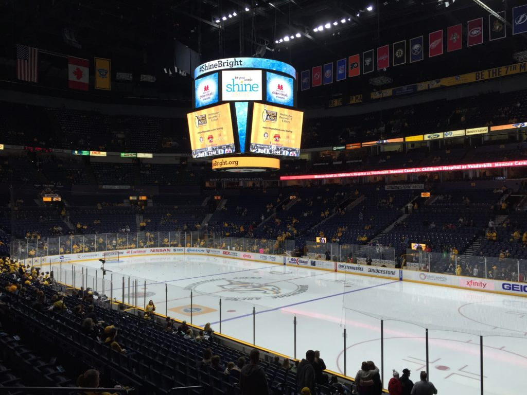 Bridgestone Arena Nashville Predators events tickets parking hotels seating food