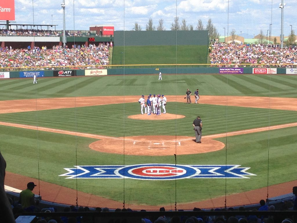 Sloan Park spring training Phoenix sports teams travel guide
