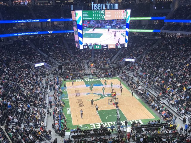 Fiserv Forum MIlwaukee Bucks events tickets parking hotels seating food