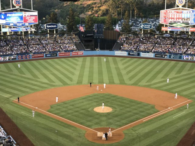 Dodger Stadium field