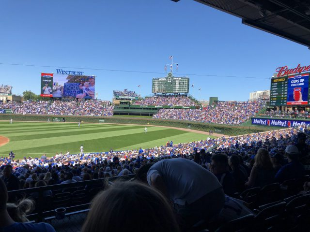 Wrigley Field stands Chicago baseball doubleheader
