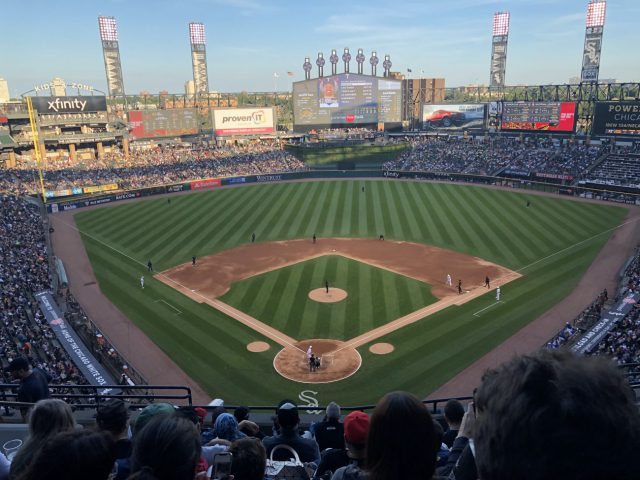 Guaranteed Rate Field view Chicago baseball doubleheader