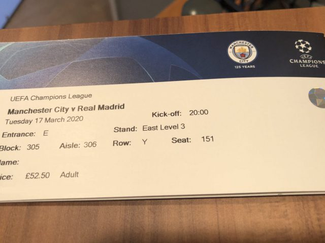 Champions League ticket
