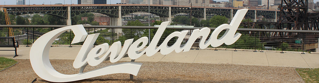 Cleveland script sign sports teams travel guide