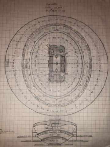 Arena doodle stadium drawing diagram