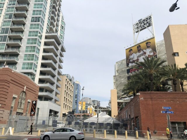 Outside Petco Park watch MLB game live