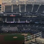 Hotel view into Petco Park to watch live MLB game