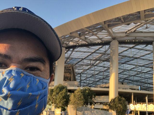 Me in front of SoFi Stadium