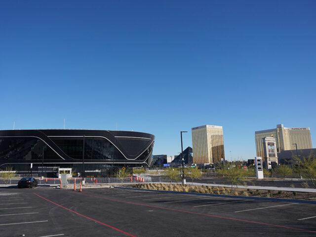 Allegiant Stadium and Las Vegas Strip
