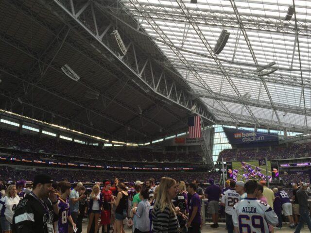 Fans at stadium sports travel