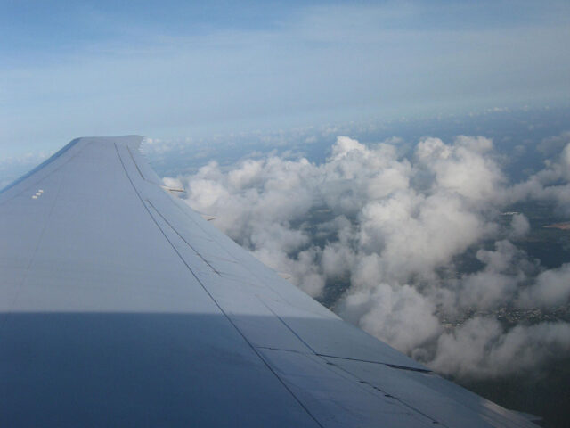 Airplane wing sports travel