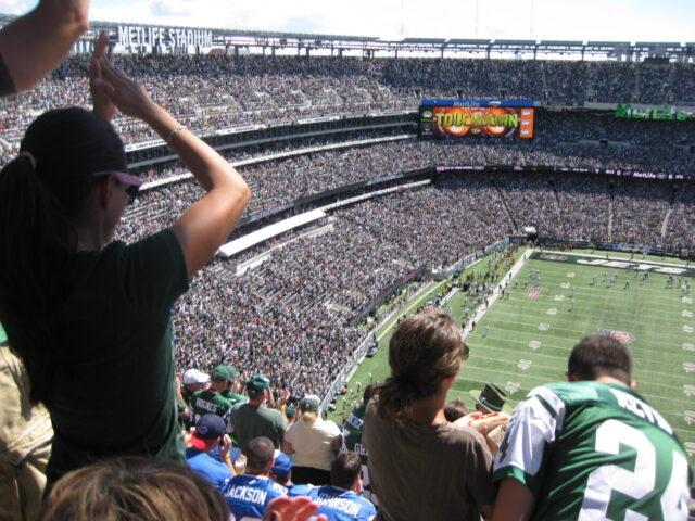 Fans at MetLife Stadium