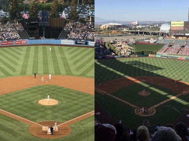Dodger Stadium and Angel Stadium of Anaheim