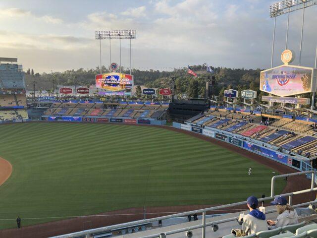 Dodger Stadium field view