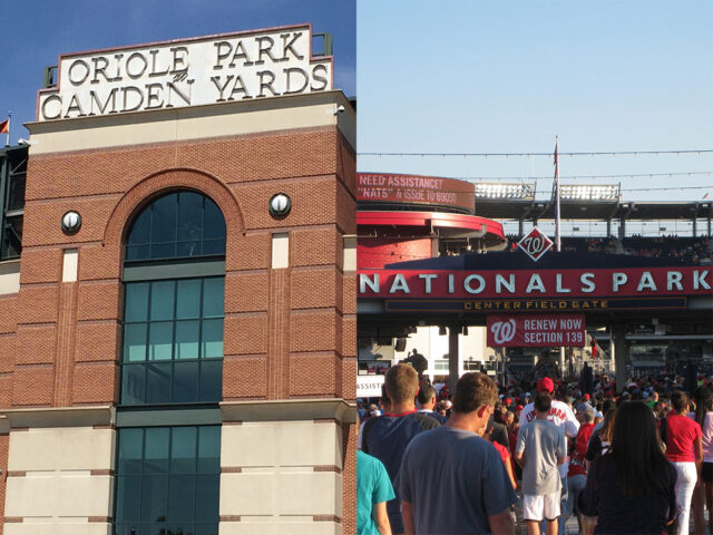 Oriole Park at Camden Yards and Nationals Park