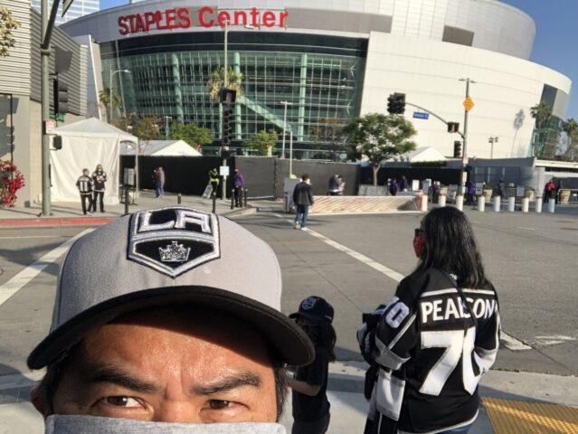 Arrival outside Staples Center