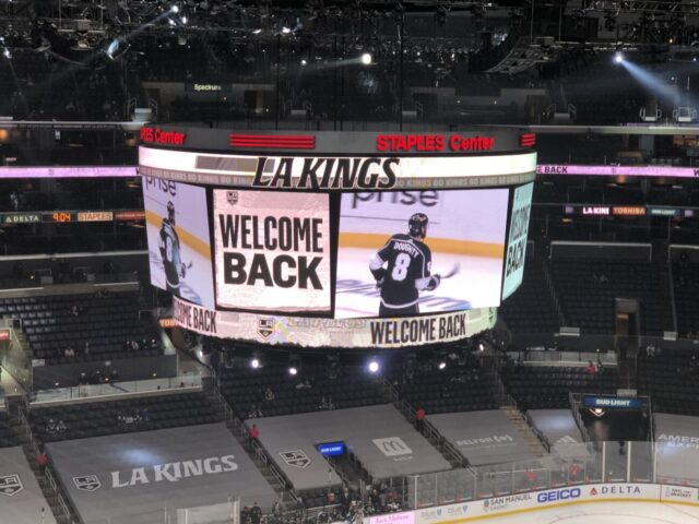 Staples Center Los Angeles Kings welcome back