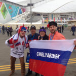 Me with Russian fans