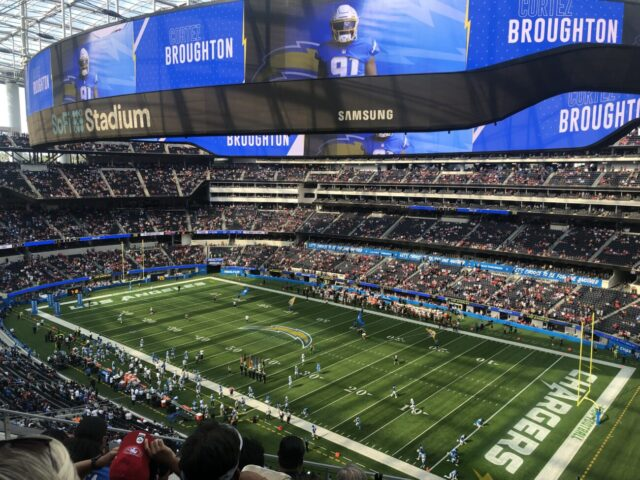 SoFi Stadium Los Angeles Rams Chargers events tickets parking hotels seating food